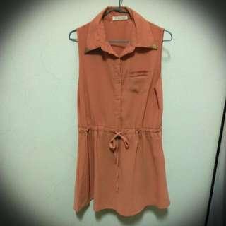 (含運) 粉橘洋裝