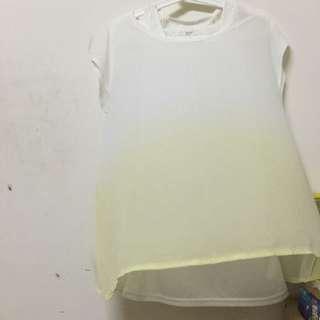 全新/兩件式漸層色系背心蕾絲上衣