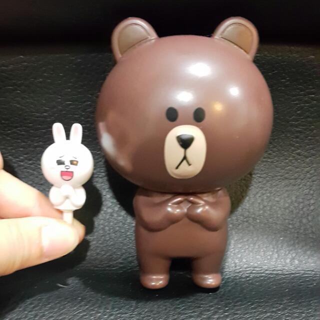 熊大大頭筆兔兔耳機塞