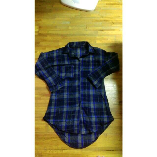 寬鬆格子長袖襯衫(全新)✨