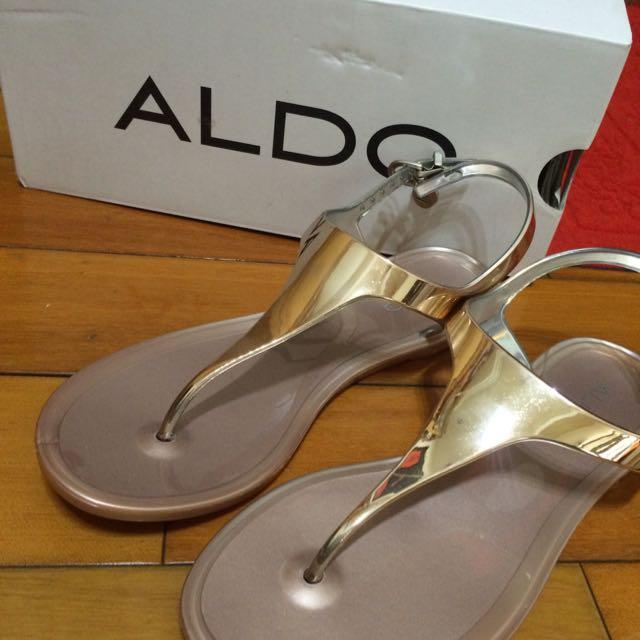 (保留)ALDO涼鞋_粉紅銀