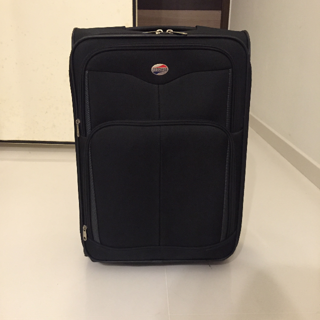 American Tourister Black Luggage Softcase