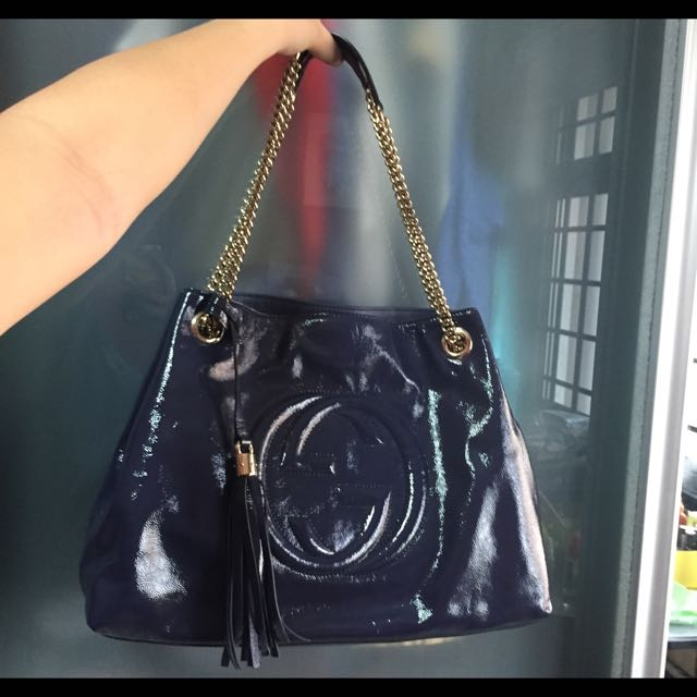 db269ca9143d66 ***PRICE REDUCED CHEAP*** AUTHENTIC GUCCI SOHO LEATHER SHOULDER BAG, Luxury  on Carousell