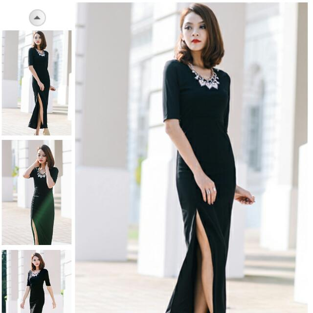 *BRIDGE* Marcelle Maxi in Black