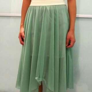Translucent Silk Skirt