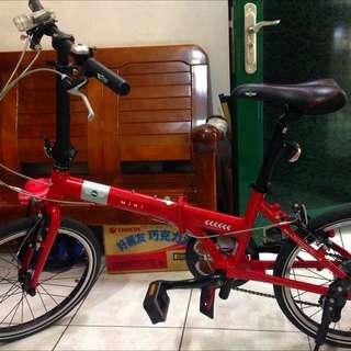 mini cooper 20吋7段變速小折腳踏車