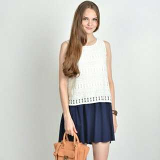 Love And Bravery Aolani Lace Dress White