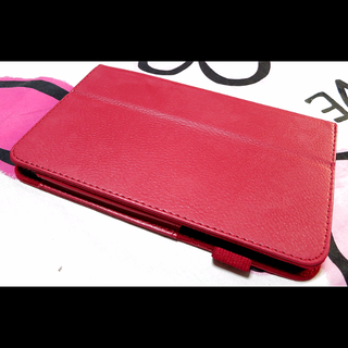 New Samsung Tab 3 7.0 T210/P3200 Red Protective Leather Cover