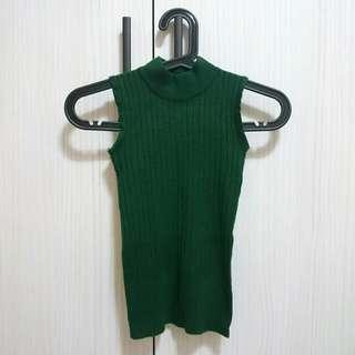 🆕超合身針織背心-聖誕樹綠