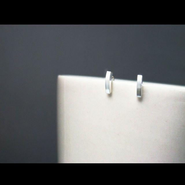 曲線魅力銀耳環/925純銀