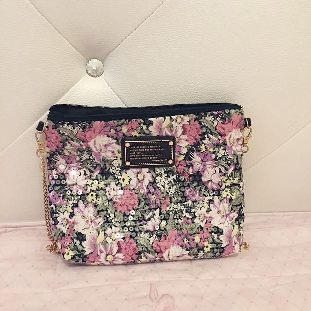 罌粟花 側背小包