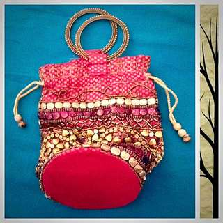(Heavy Beads Work) Indian Handy Bag