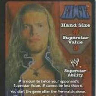 Wwe Wwf Card Edge/ Leader Of The Edge Army