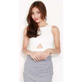 [PO] Triangle Cutout Crop Top (3 Colors Avail)