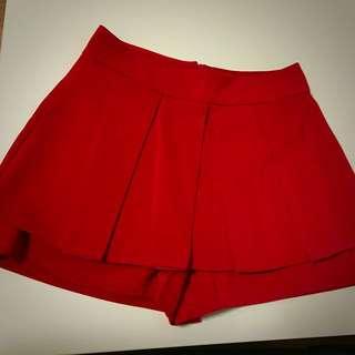 BN Red Pleated Skorts