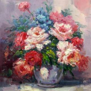 Bouquet Of Flowers Oil Painting