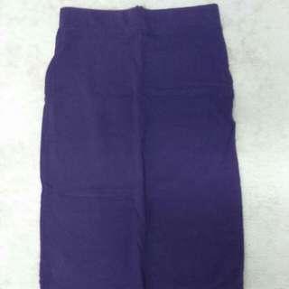 Pencil Purple Quarter Skirt