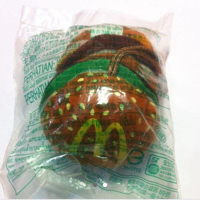 麥當勞漢堡小吊飾