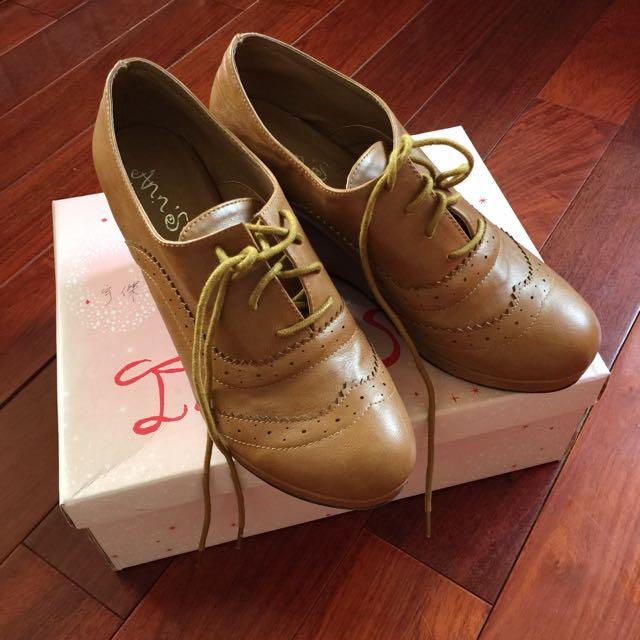 厚底楔型牛津鞋 40/41