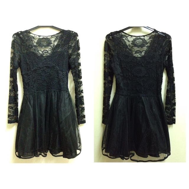 [reserved] Black Lace Dress