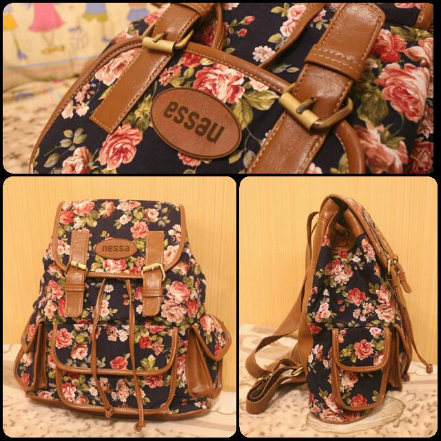 DARK BLUE FLOWER RANSEL
