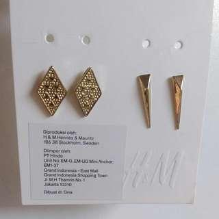 H&m 金屬耳環(兩對)