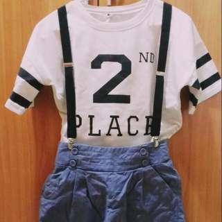 2號白衣+藍色短褲