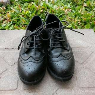 [Free Postage] Oxford Shoes (Black)