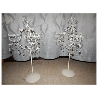 Crystal drop candle holders