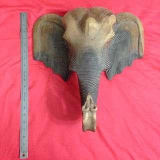 Wooden Elephant Display