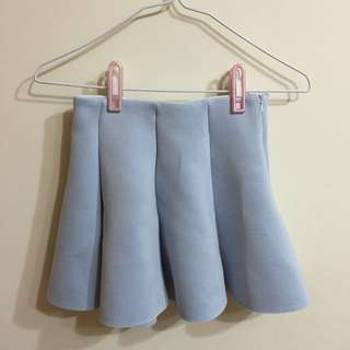(保留中)全新天空藍短裙
