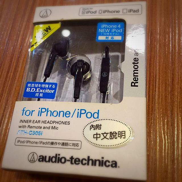 鐵三角ATH-C505i iOS專用 黑色
