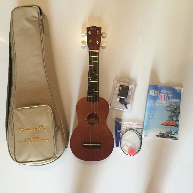 (Reserved)Hawaii Ukulele + GIVEAWAY Mini clip digital tuner,Guitar picks,String 1 set