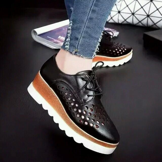 742a9319df0f Ladies Vintage Japanese Lace Up Contrast Platform Slip On Shoes  heels  sneakers