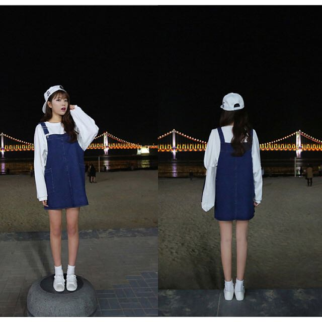 [PO] Denim Skirt Overalls