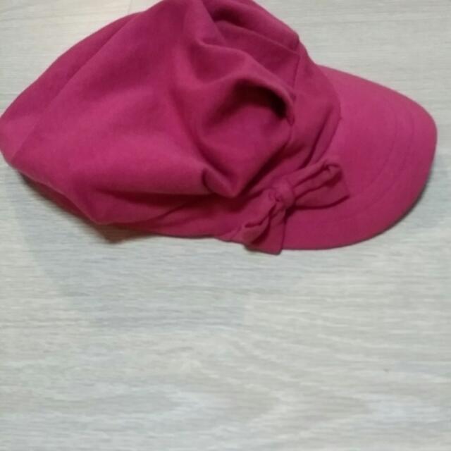 Preloved Fox Hot Pink Beret 289931b3650
