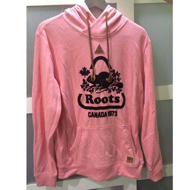 Roots 粉色帽T正品 再降價!!!!!