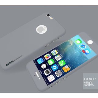 Remax Silver iPhone 6 360 Protector Skin With Tempered Glass