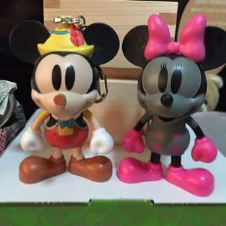 7-11 Mickey Mouse Pinocchio ($10) And Black Minnie ($10) And Steamboat Willie  ($15)