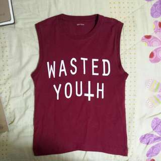 Maroon Wasted Youth Tank