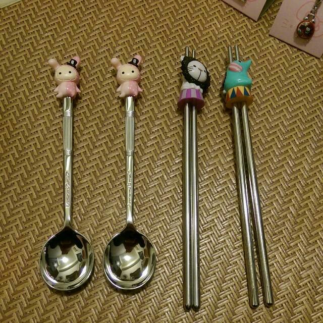 馬戲團餐具(只剩筷子)