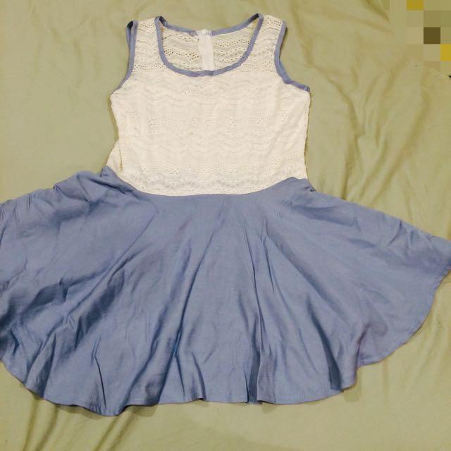 藍白小洋裝