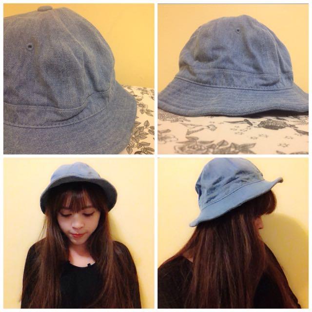 牛仔藍小圓帽