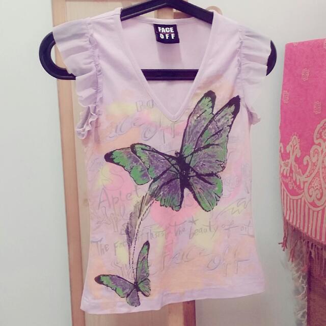 🎁FACE OFF紫色無袖T