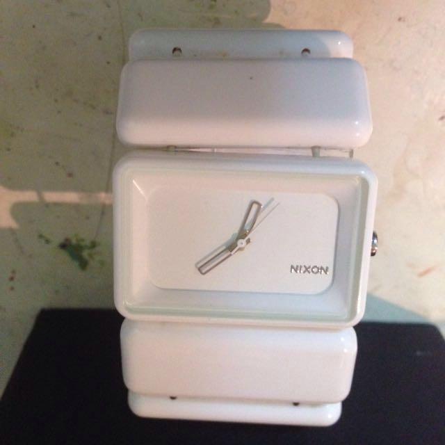 (二手!降價!)NIXON白色手錶