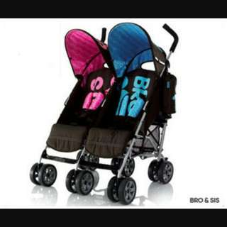 Cosatto Twin Stroller (Sis And Bro)