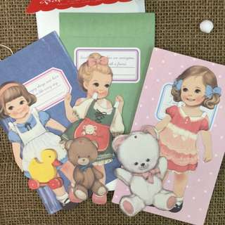 Paper Doll Mate Gift Card Set/3 Designs