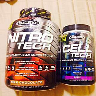 Whey Protein NITROTech + CELLTech by MuscleTech for sale!