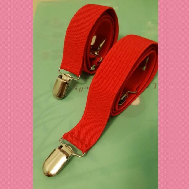 二手-紅色彈性吊帶