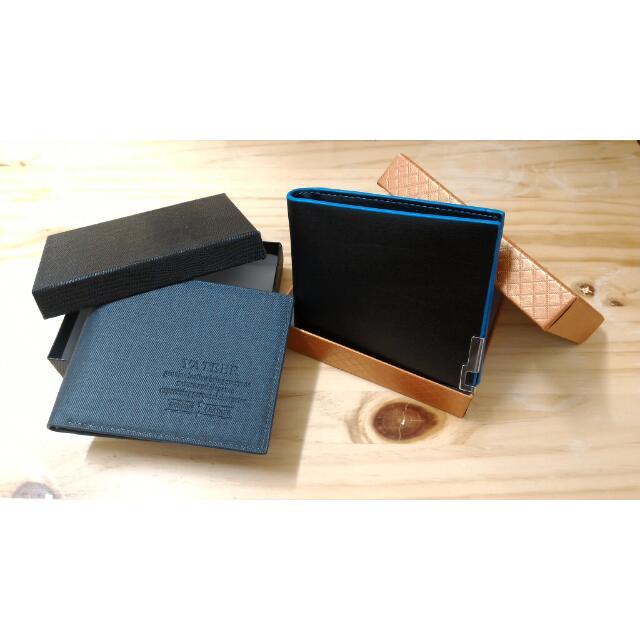 🔅全新現貨 原價399 質感 藍色 黑色 皮夾 錢包